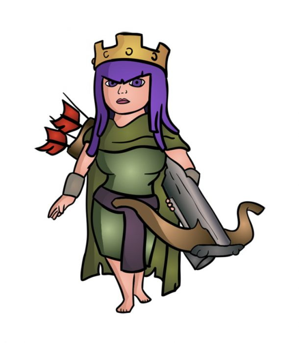 как нарисовать королеву лучниц