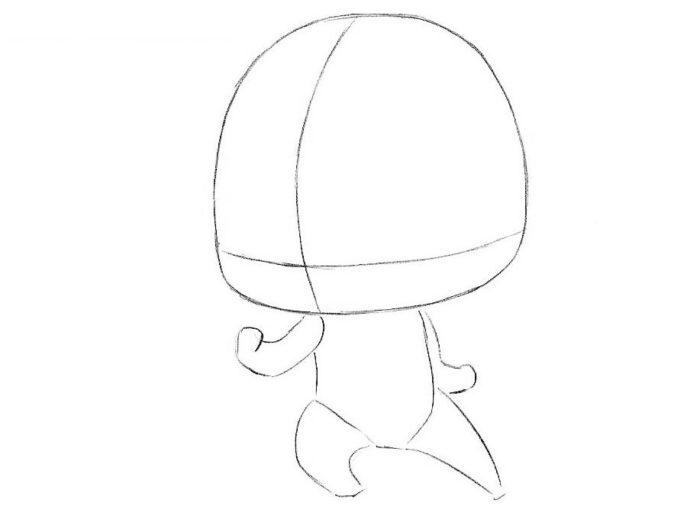 Как нарисовать Флеша в стиле чиби 2
