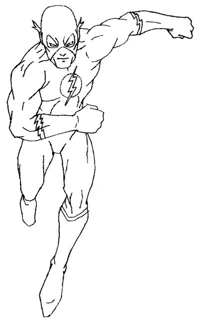 как нарисовать Флеша