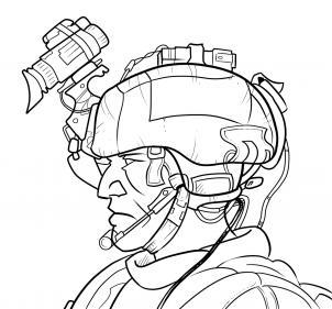 Как нарисовать современного солдата