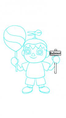 Как поэтапно нарисовать Балонбоя 10