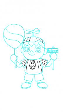 Как поэтапно нарисовать Балонбоя 11