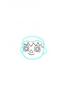 Как поэтапно нарисовать Балонбоя 2