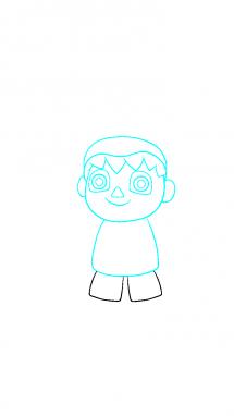 Как поэтапно нарисовать Балонбоя 4