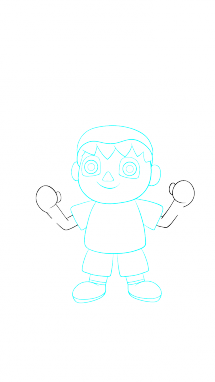 Как поэтапно нарисовать Балонбоя 7