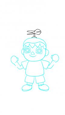 Как поэтапно нарисовать Балонбоя 8