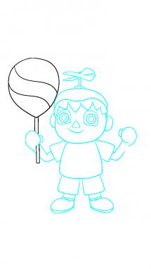 Как поэтапно нарисовать Балонбоя 9