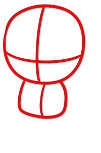 как нарисовать Дэрила Диксона 1