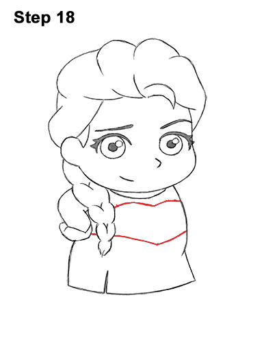 Рисуем Эльзу из Холодного сердца