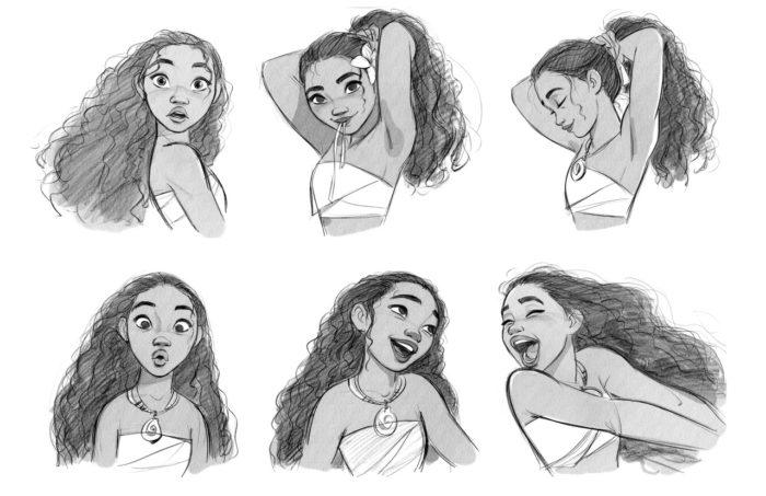 как нарисовать эмоции Моаны