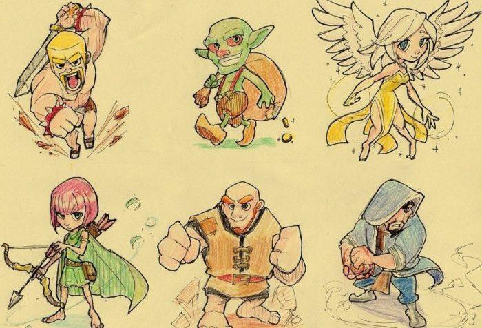 Как нарисовать героев игры Клеш оф Кленс