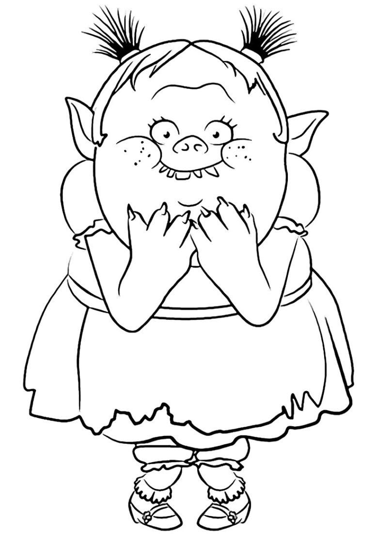 Раскраски из мультфильма Тролли