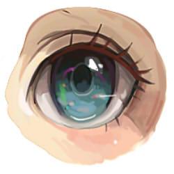 как нарисовать аниме глаза