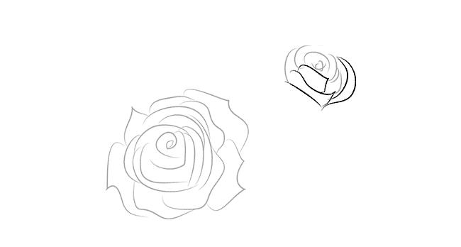 рисуем розы к 8 марта
