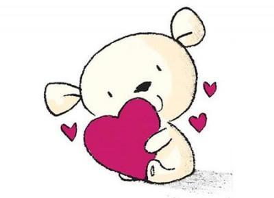 Как нарисовать мишку с сердцем