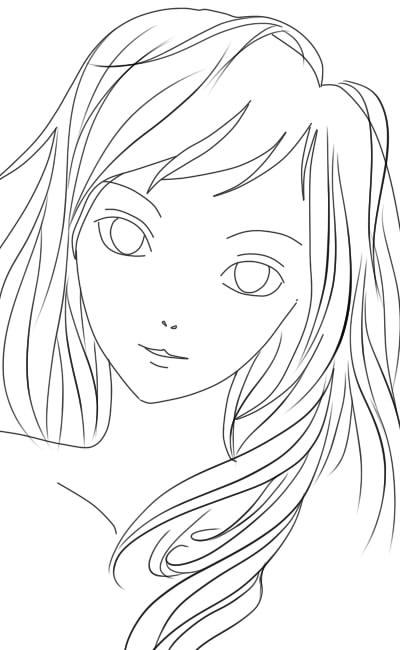 как нарисовать аниме лицо