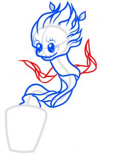 как нарисовать малыша грута