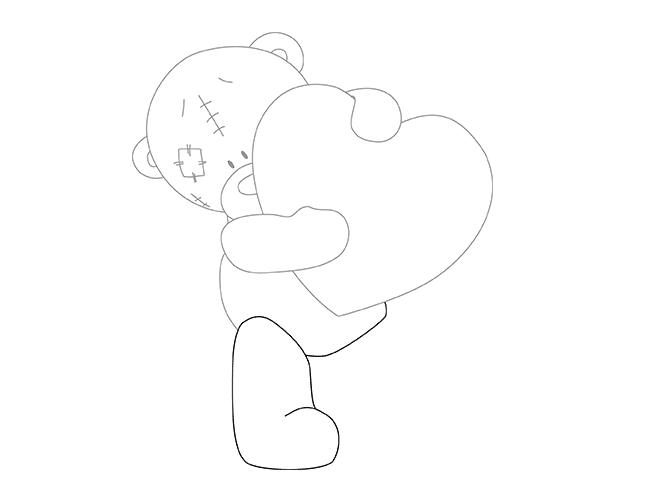 как как нарисовать мишку Тедди