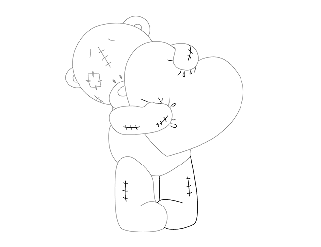 как нарисовать мишку Тедди