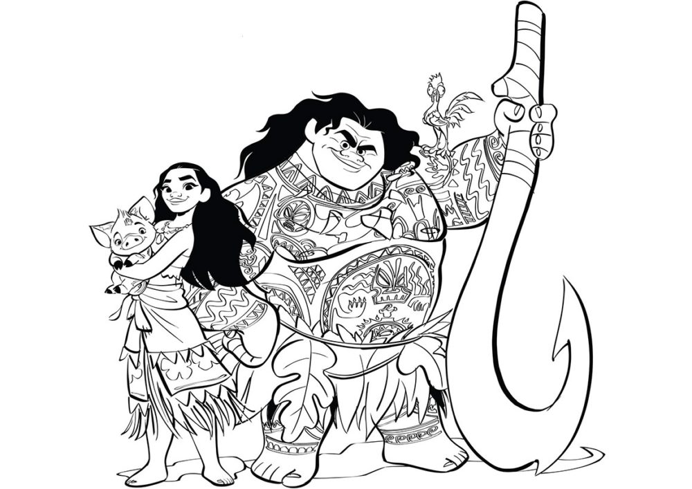 Рисуем героев Моаны