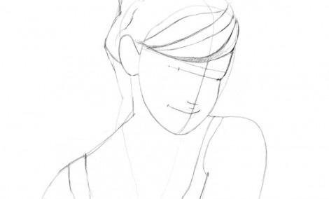 Как нарисовать Эмму Уотсон