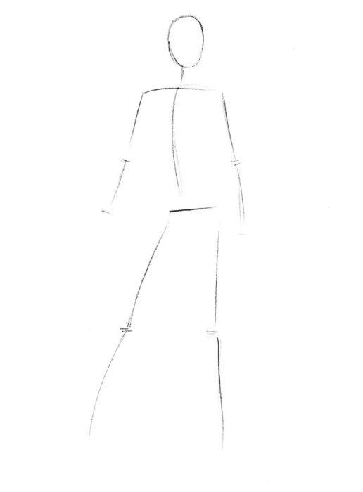 Как нарисовать Китану из игры1