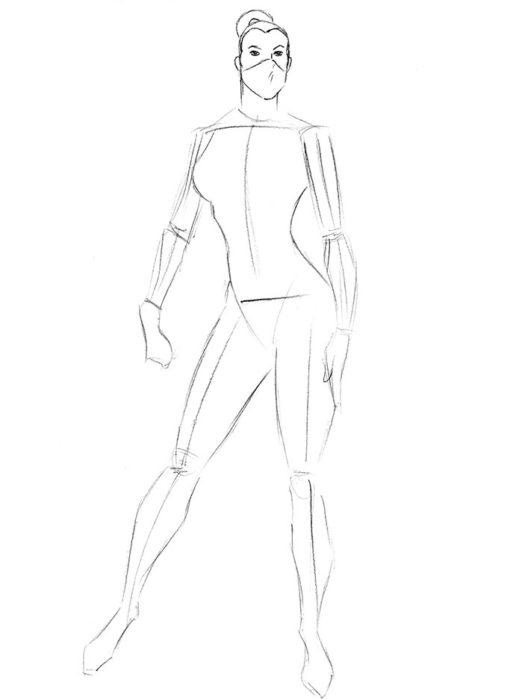 Как нарисовать Китану из игры4