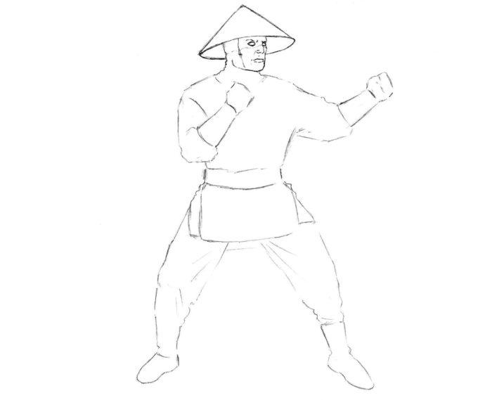Как нарисовать Рейдена из игры