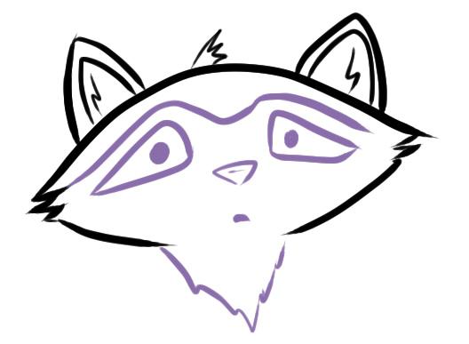 Как нарисовать енота