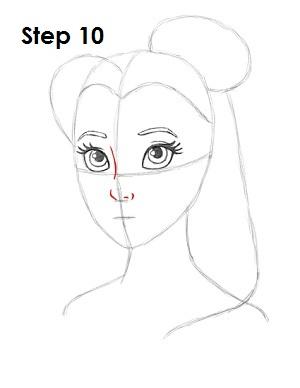 Как нарисовать Белль из Красавицы и Чудовища