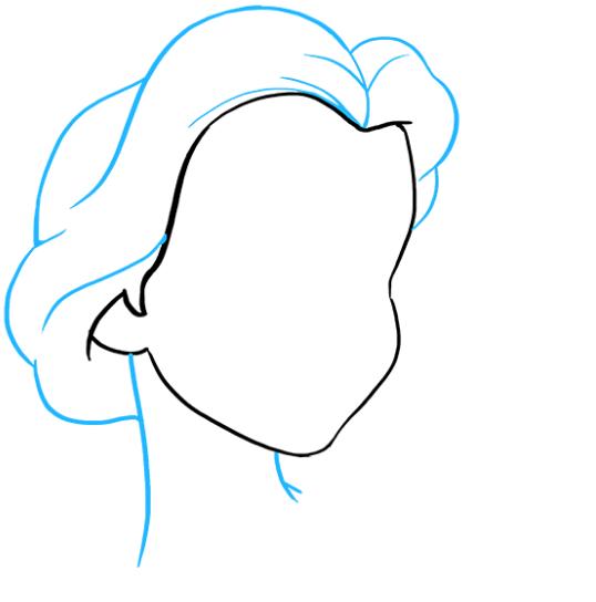 Рисуем принцессу Белль 2