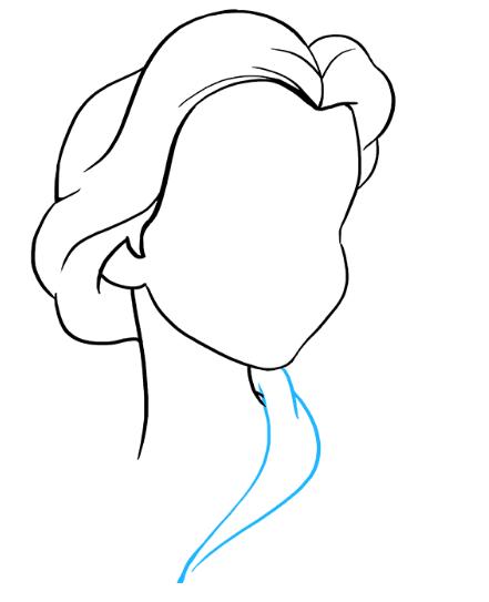 Рисуем принцессу Белль 3