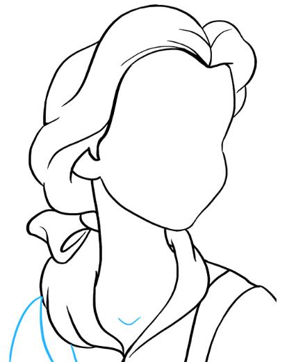 Рисуем принцессу Белль 5