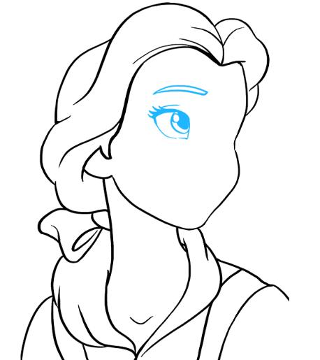 Рисуем принцессу Белль 6