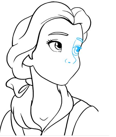Рисуем принцессу Белль 7
