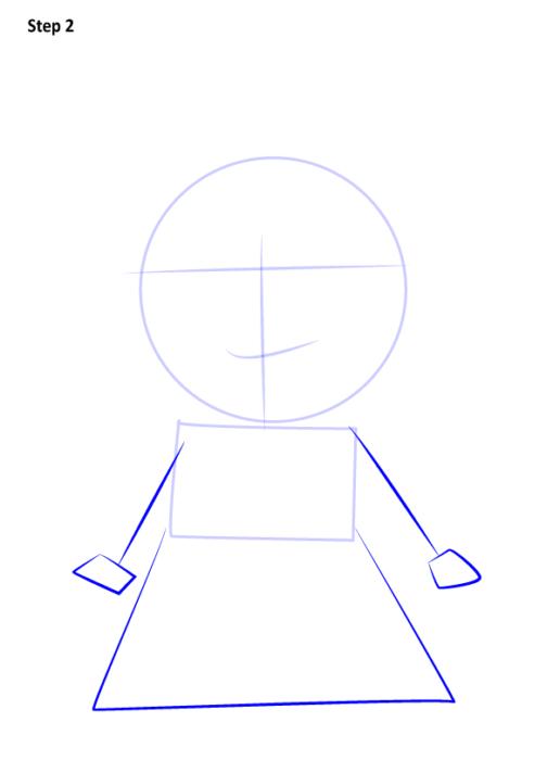 Как нарисовать Белль из сказки 2