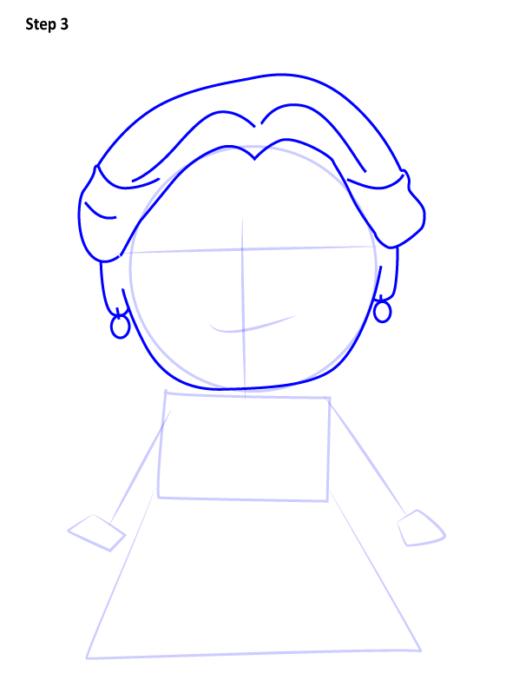 Как нарисовать Белль из сказки 3