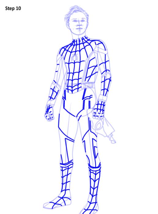 Как рисовать Человека Паука из фильма 10