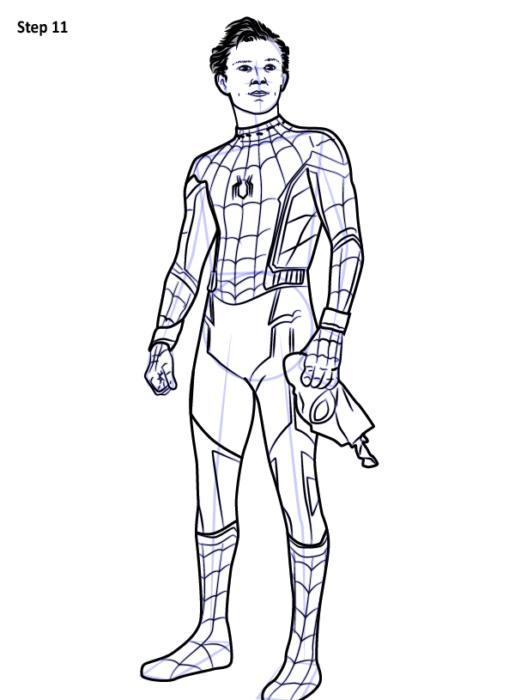 Как рисовать Человека Паука из фильма 11