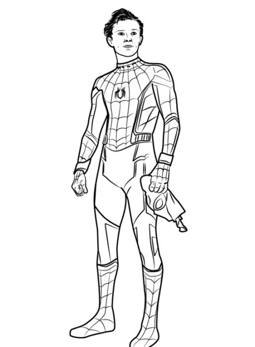 Как рисовать Человека Паука из фильма 12