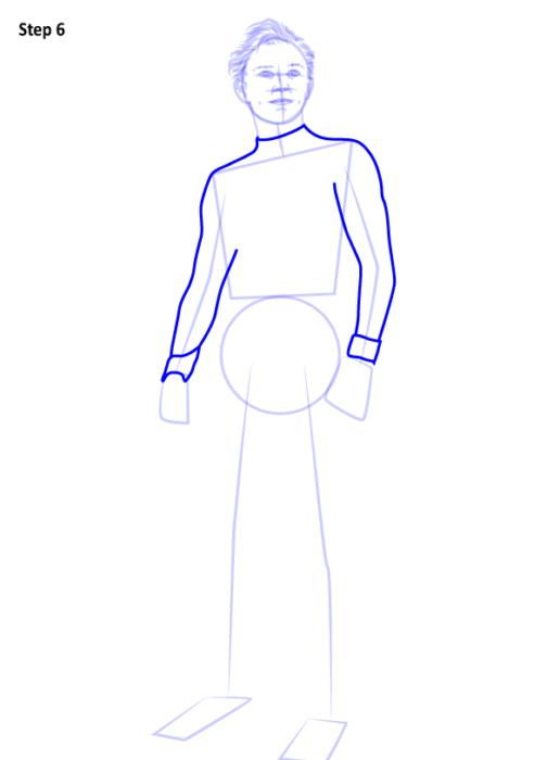Как рисовать Человека Паука из фильма 6