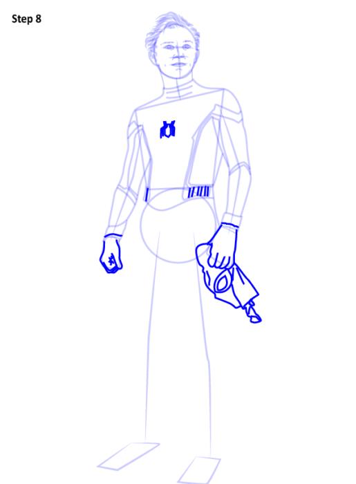 Как рисовать Человека Паука из фильма 8