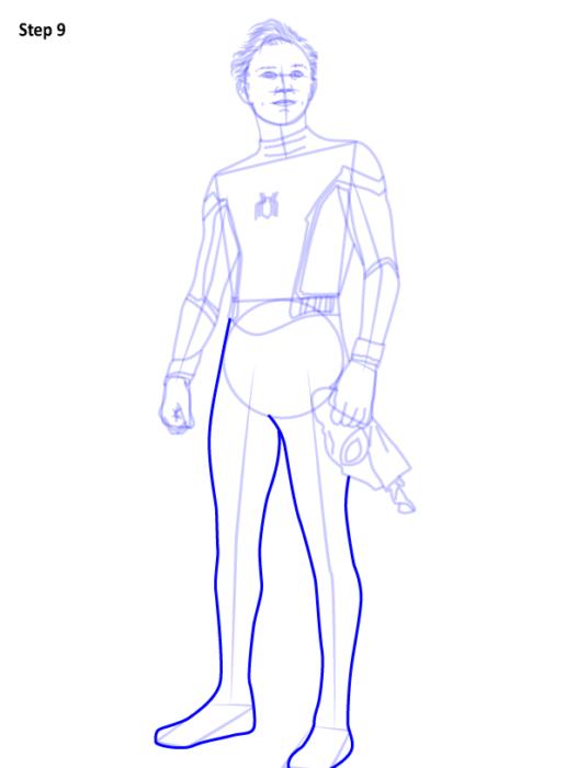 Как рисовать Человека Паука из фильма 9