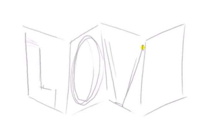 Как нарисовать Love в 3D