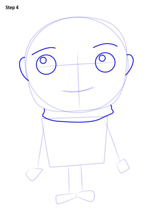 Как нарисовать Грю из мультфильма 4