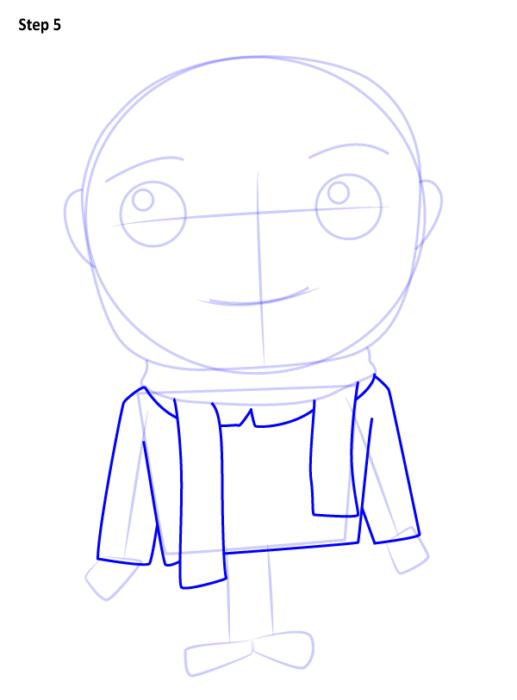 Как нарисовать Грю из мультфильма 5