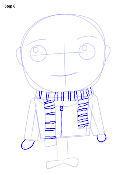 Как нарисовать Грю из мультфильма 6