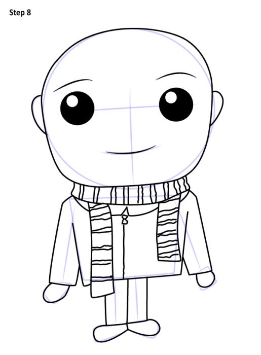 Как нарисовать Грю из мультфильма 8