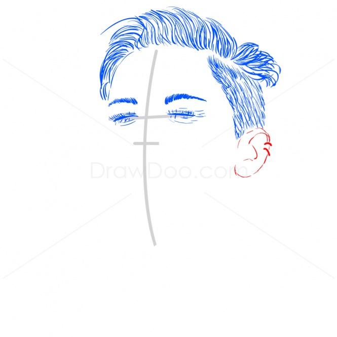 как нарисовать Майли Сайрус