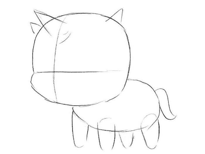 Как поэтапно нарисовать единорога 3